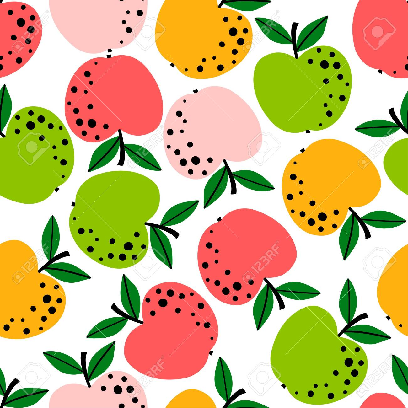 Apple Pattern Fruit Seamless Background Or Wallpaper Repeated Royalty Free Cliparts Vectors And Stock Illustration Image 138970172