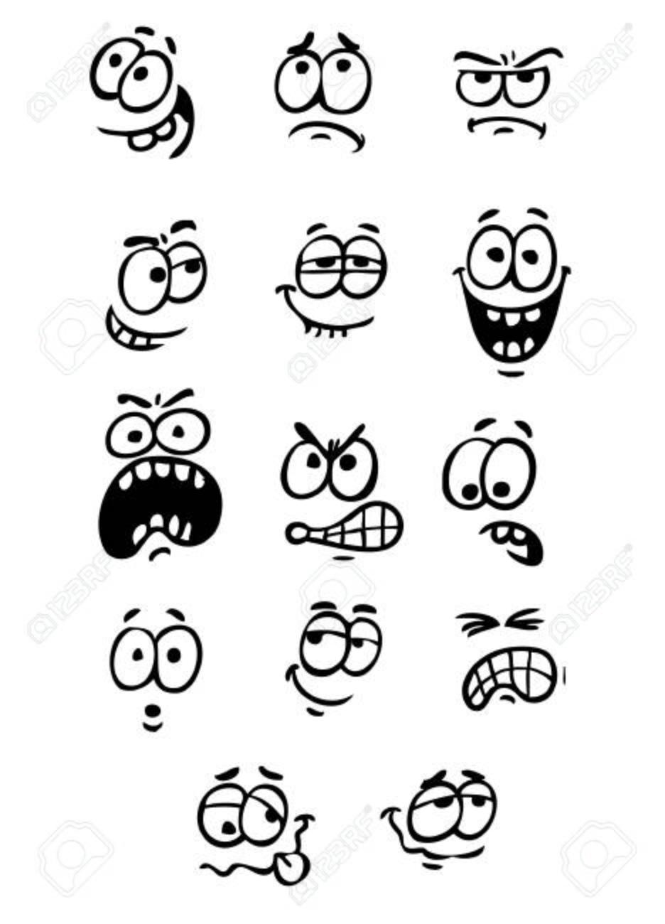 Cartoon Eyes Emoticons Symbols Royalty Free Cliparts Vectors And