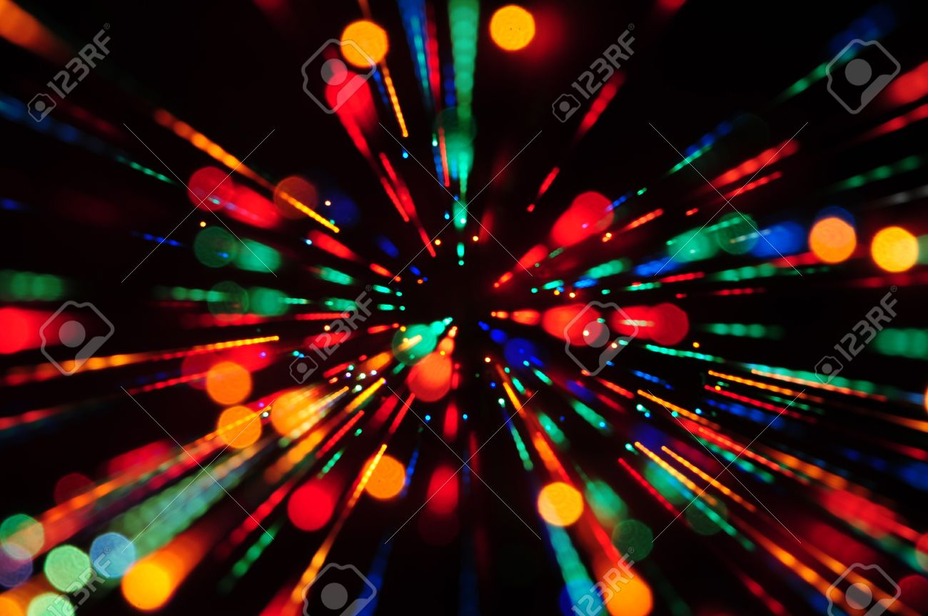 Multi Colored Abstract Background Of Out Of Focus Party Lights Streaks  Stock Photo   10101421