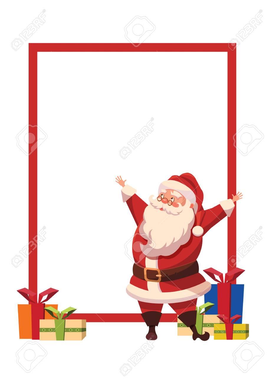 Entwerfen Sie Für Weihnachtsplakat Mit Weihnachten Santa Claus Mit ...