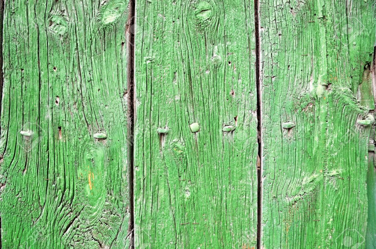 detail of a old green wooden door Stock Photo - 10257234