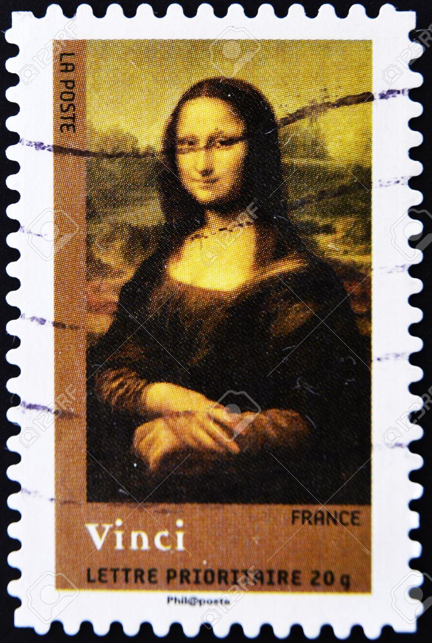 FRANCE - CIRCA 2008: A stamp printed in France shows Mona Lisa or La Gioconda. Louvre, Paris, circa 2008 Stock Photo - 11071608