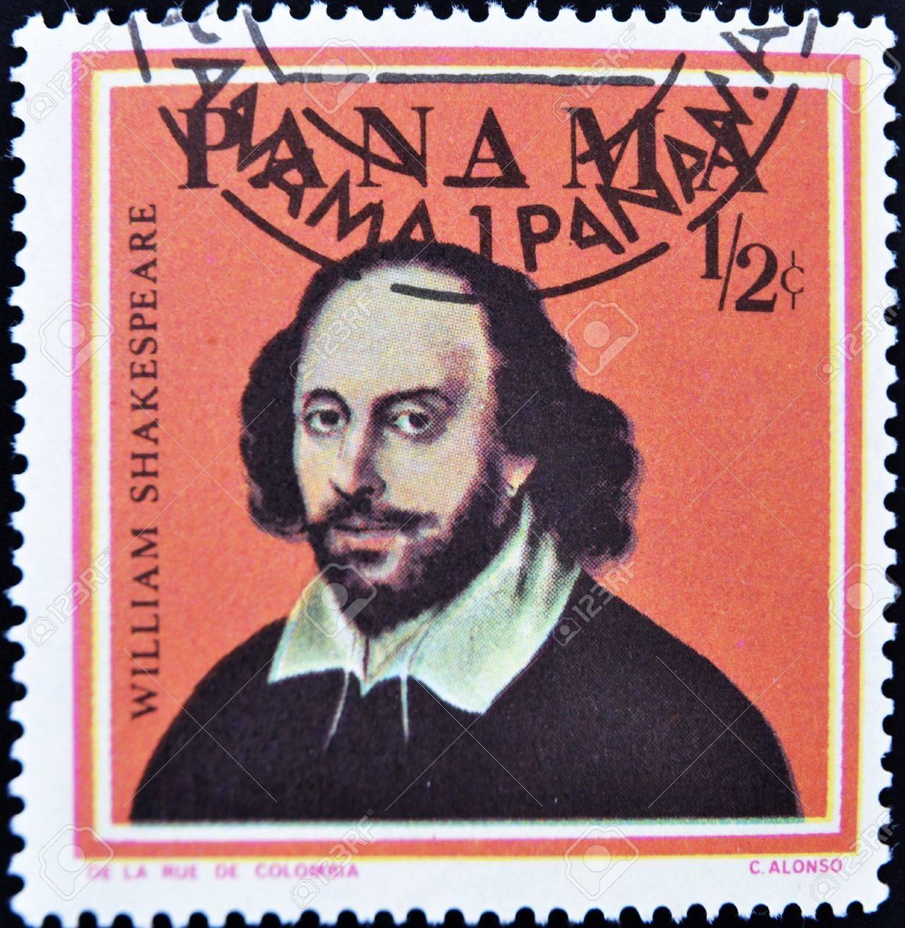 PANAMA - CIRCA 1967: A stamp printed in Panama shows William Shakespeare, circa 1967 Stock Photo - 11099040