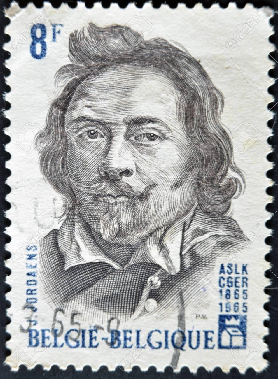 BELGIUM - CIRCA 1965: A stamp printed in Belgium shows Jordaens, circa 1965  Stock Photo - 11805109
