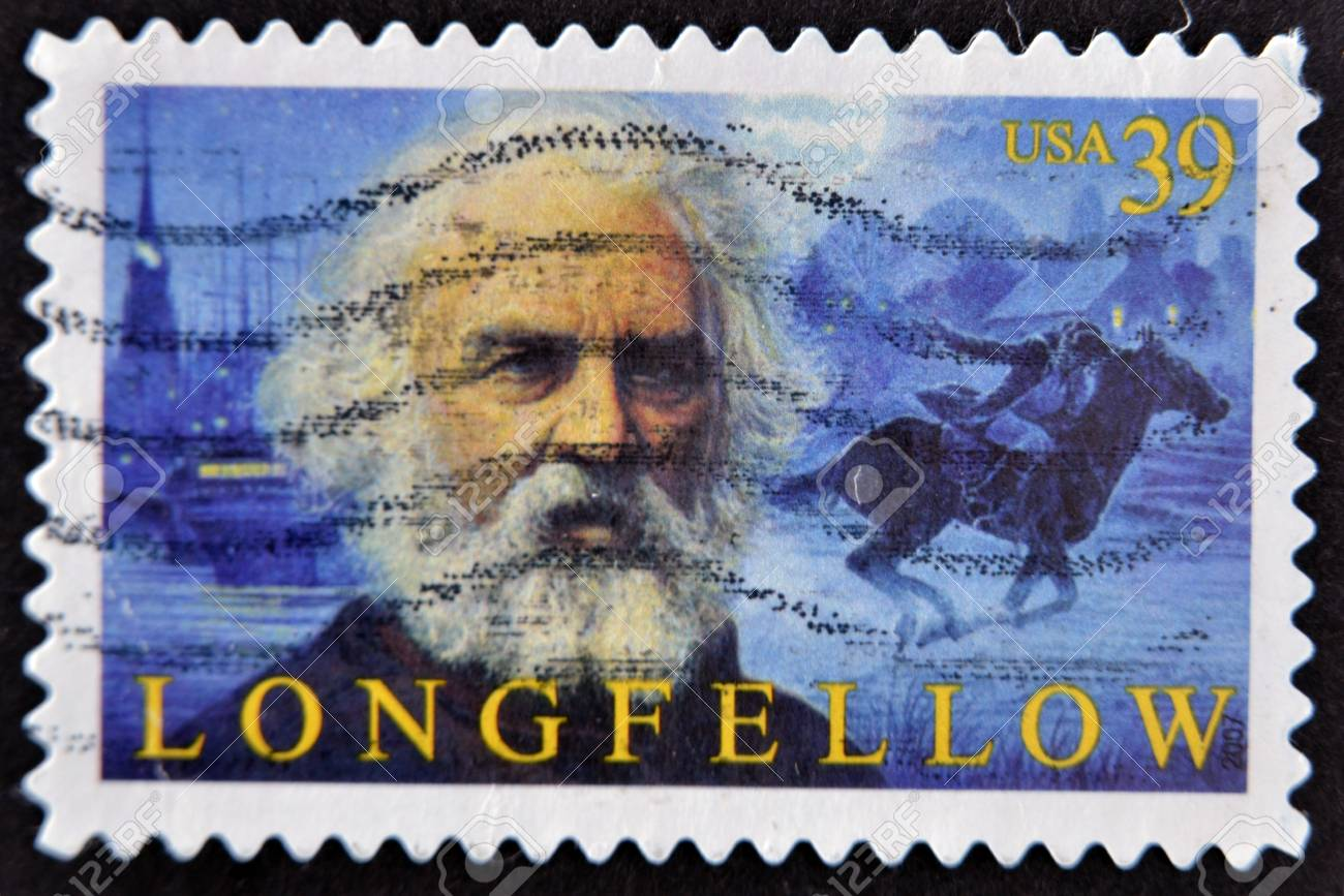UNITED STATES OF AMERICA - CIRCA 2007: A stamp printed in USA shows Henry Longfellow, circa 2007 Stock Photo - 11805072