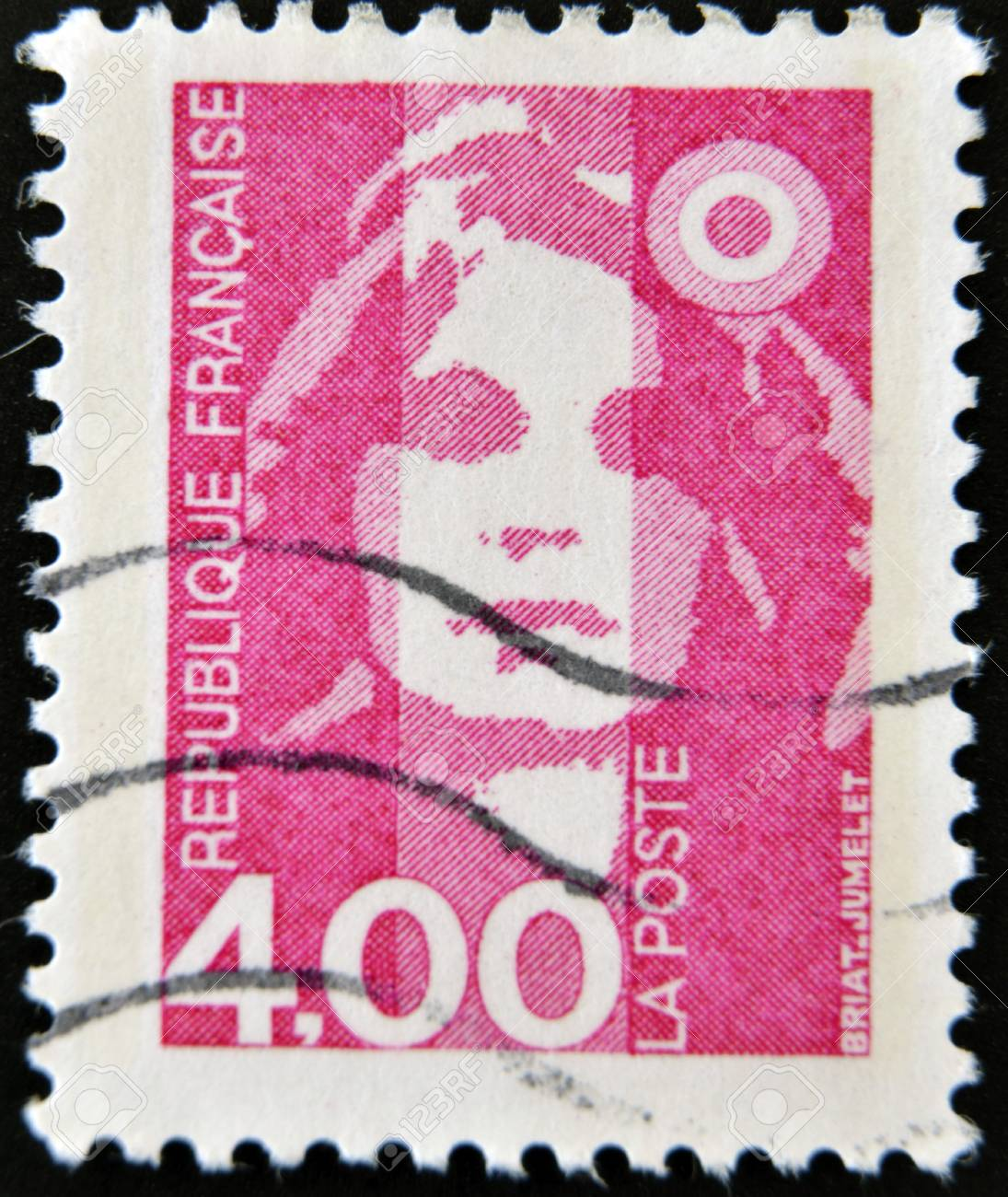 FRANCE - CIRCA 1989  A stamp printed in France, depicts Marianne is a national emblem of France, circa 1989  Stock Photo - 12465054