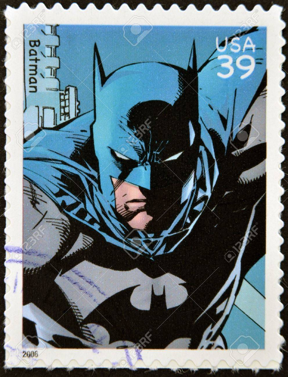 UNITED STATES OF AMERICA - CIRCA 2006: stamp printed in USA shows Batman, circa 2006  Stock Photo - 13289461