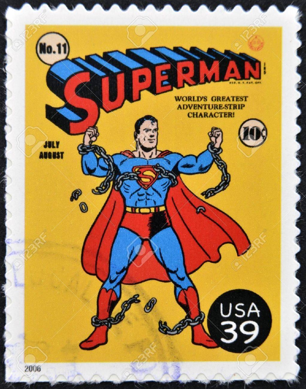 UNITED STATES OF AMERICA - CIRCA 2006: stamp printed in USA shows superman, circa 2006  Stock Photo - 13289409