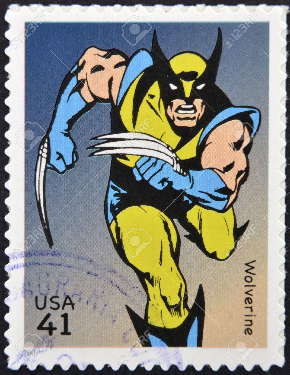 UNITED STATES OF AMERICA - CIRCA 2007: A stamp printed in USA shows Wolverine, circa 2007  Stock Photo - 13289435