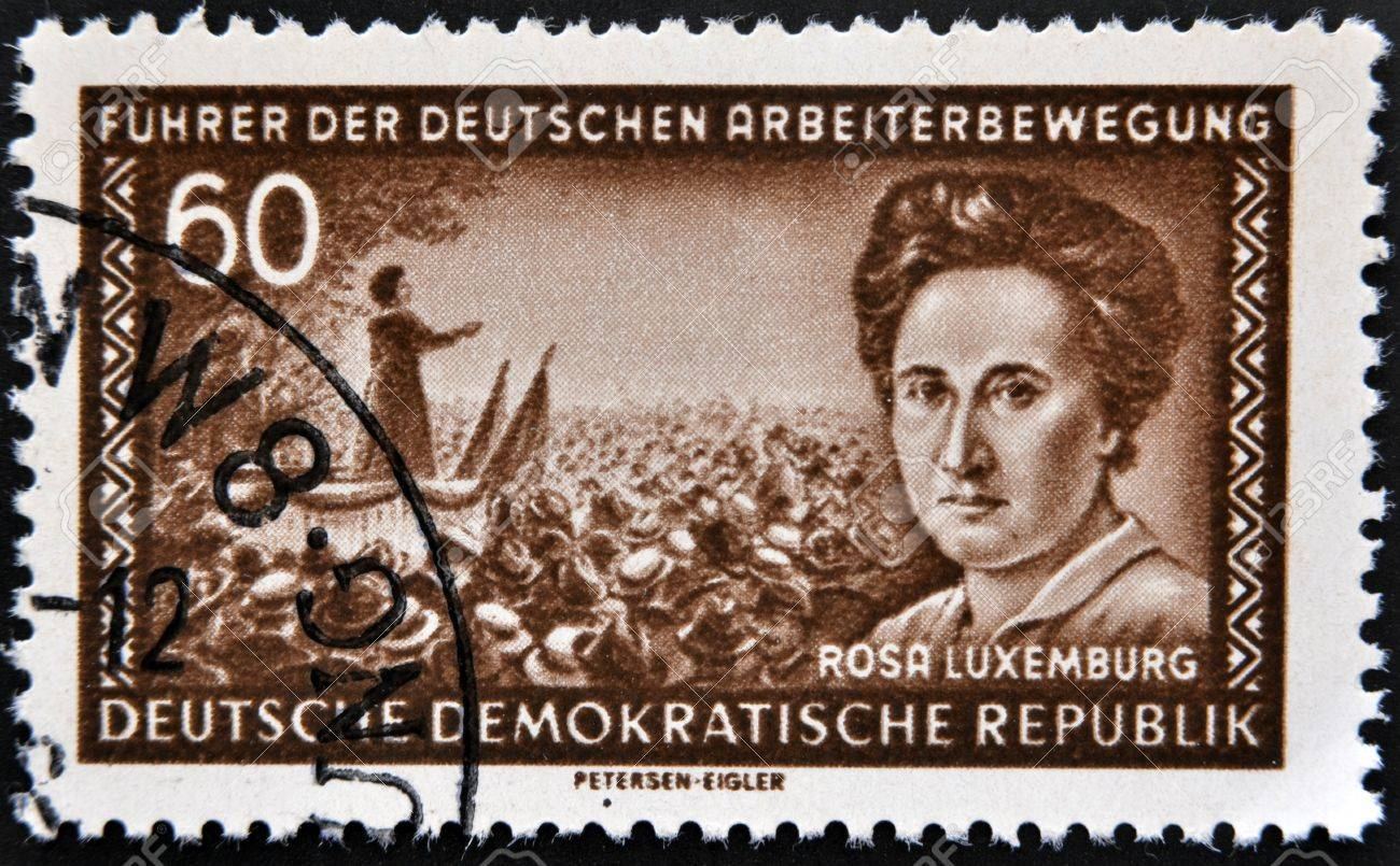 GERMANY - CIRCA 1974: A stamp printed in the democratic republic of germany shows Rosa Luxemburg, circa 1974  Stock Photo - 13877233