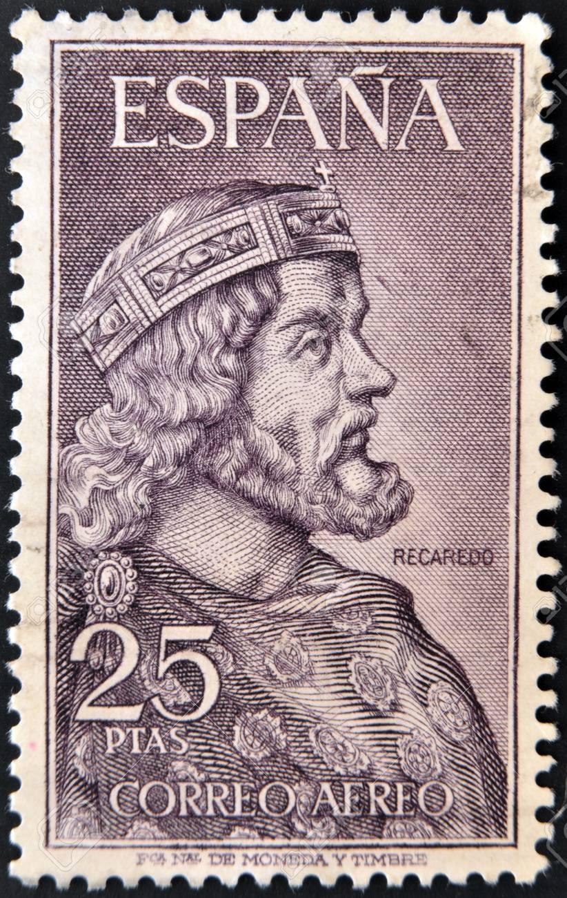 SPAIN - CIRCA 1963: A stamp printed in spain shows Recaredo, circa 1963 Stock Photo - 13877182