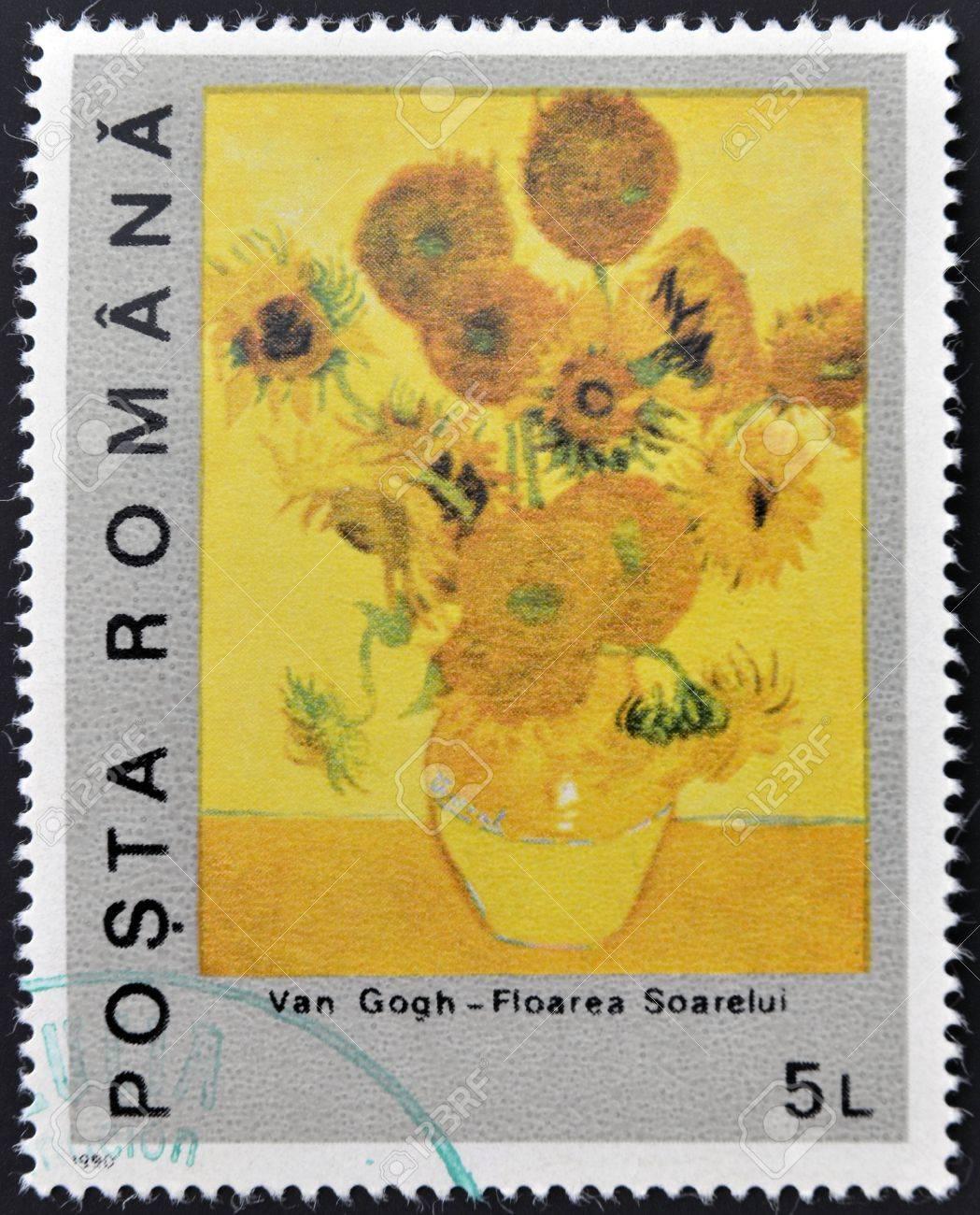Rumänien Circa 1990 Ein Stempel In Rumänien Gedruckt Zeigt