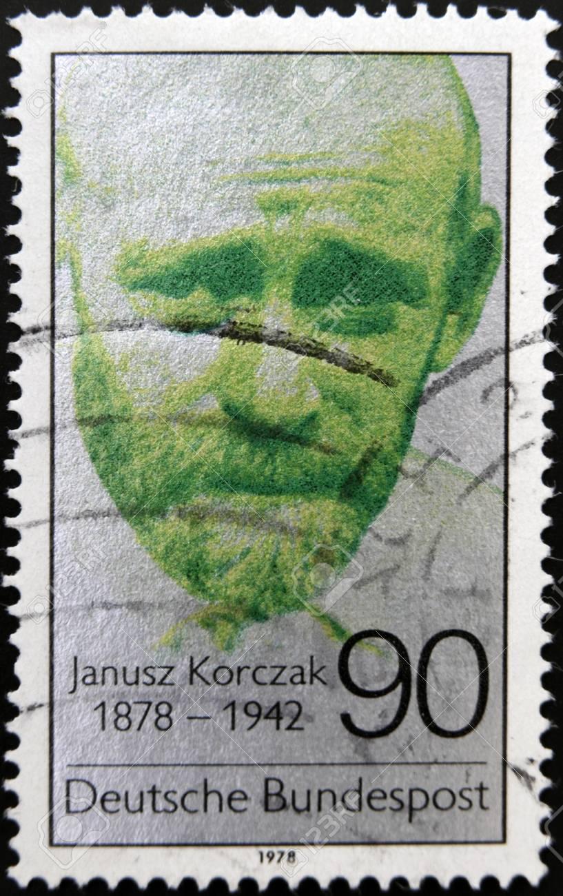 GERMANY - CIRCA 1978: A stamp printed in Germany shows Janusz Korczak, circa 1978 Stock Photo - 19618595