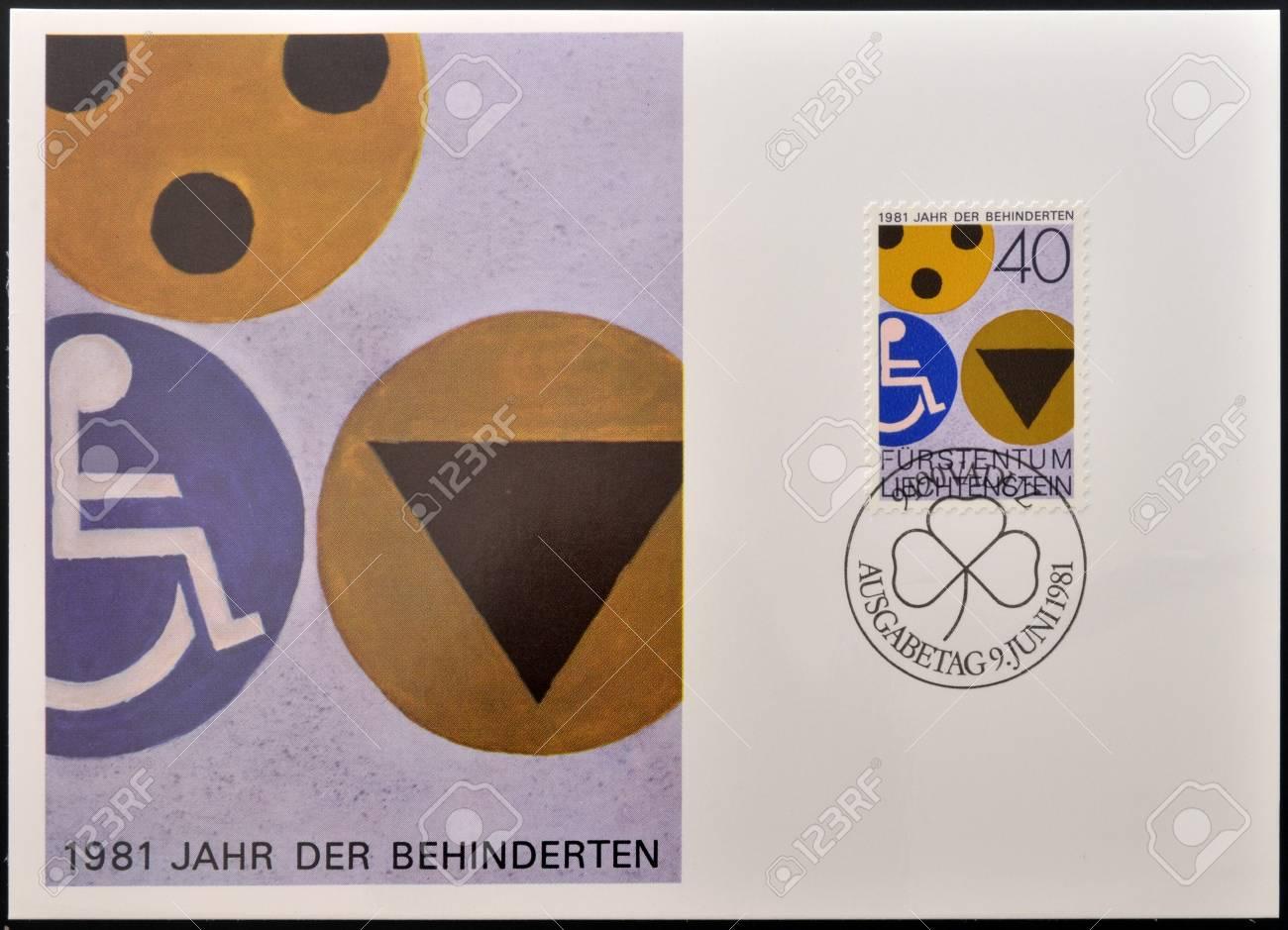 Liechtenstein Circa 1981 A Stamp Printed In Liechtenstein Shows
