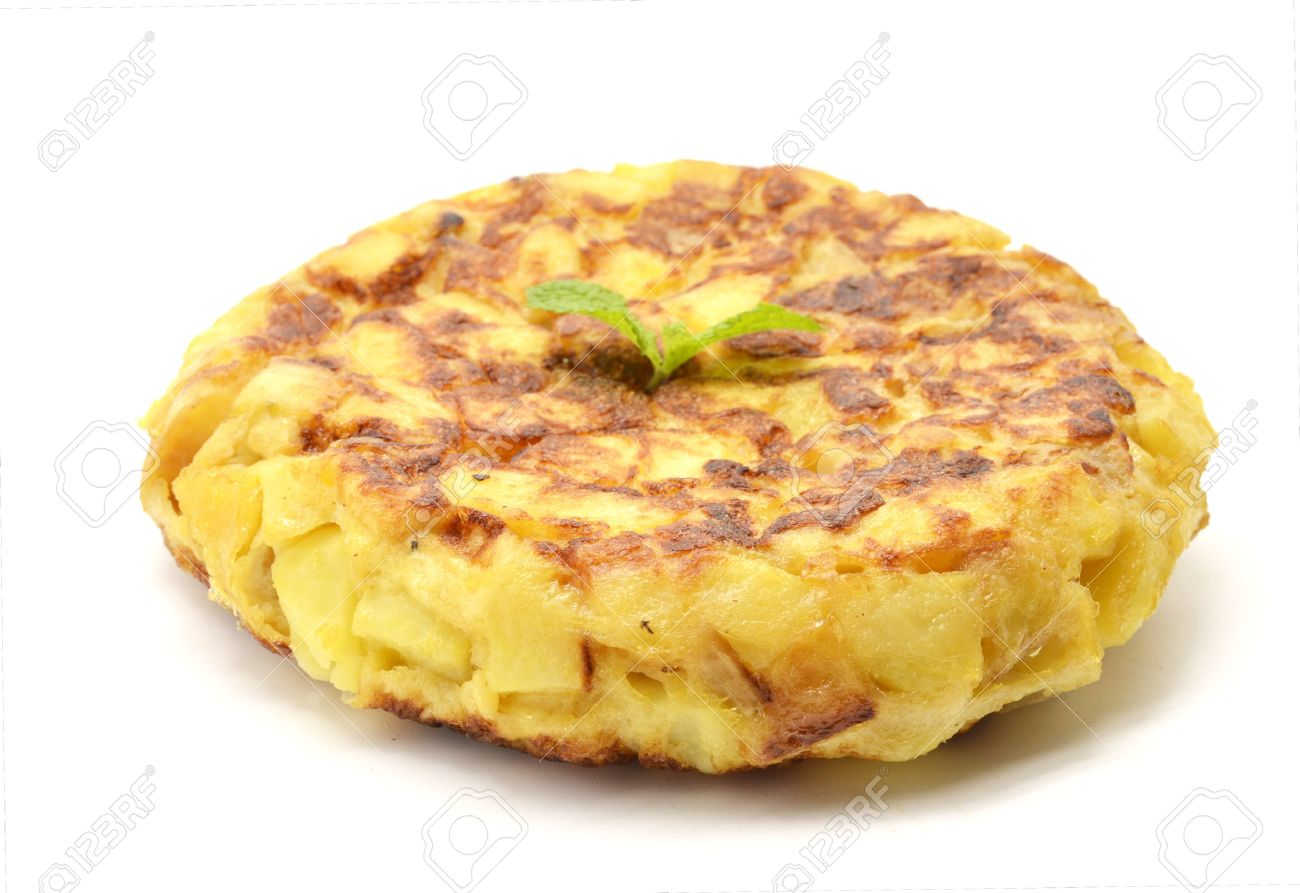 tortilla: Spanish tortilla (omelet with potatoes and onions)