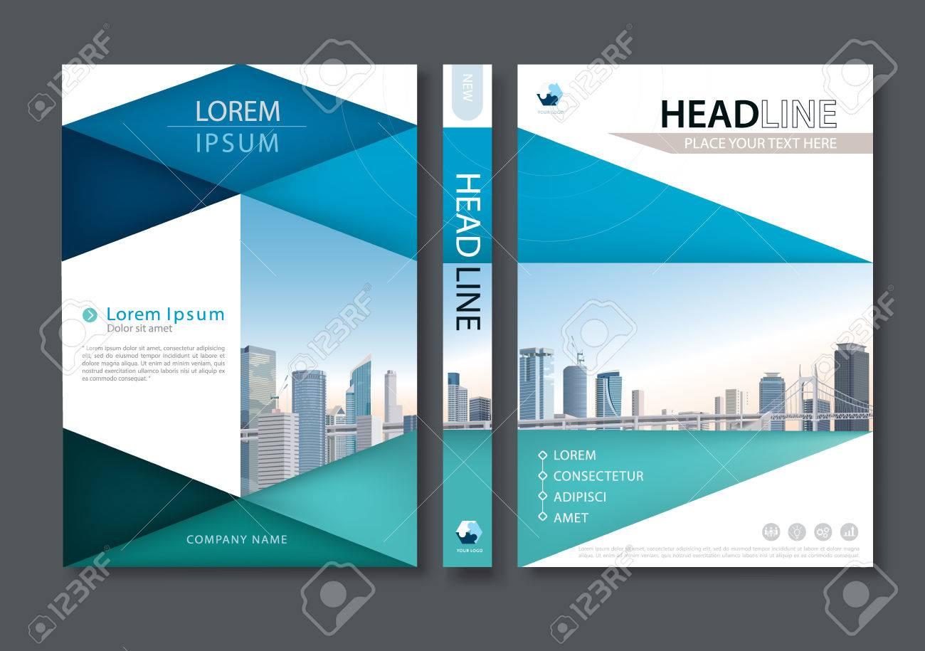 Blue Green Flyer Design Template Vector, Leaflet Cover Presentation ...