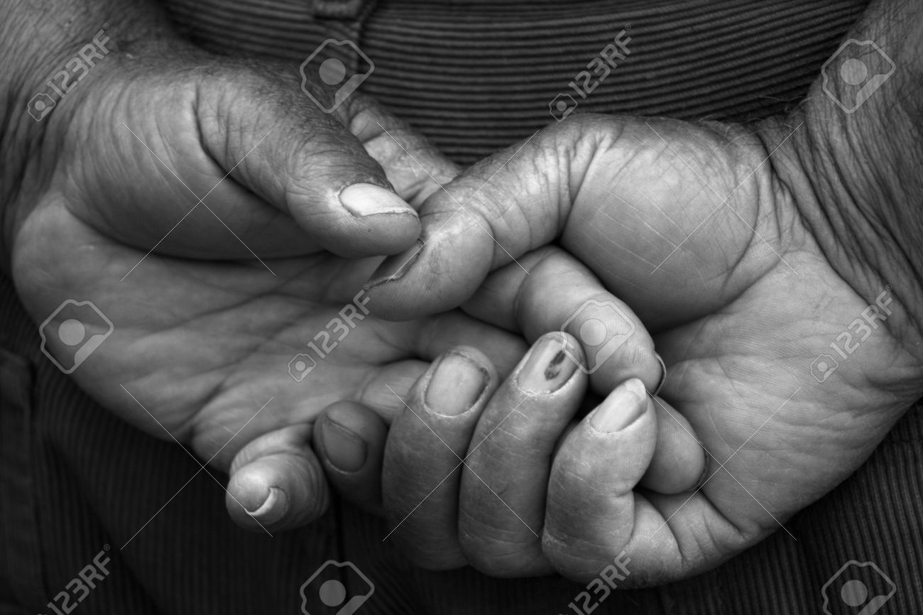 Male hands close up black and white stock photo 13473651