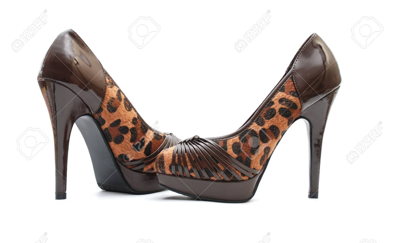 brown female shoes Stock Photo - 13342499
