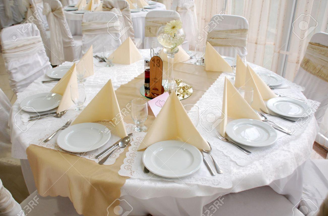 wedding table decoration,round Stock Photo - 15033267