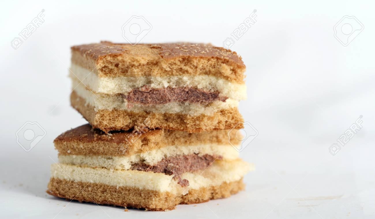 Susse Gelbe Kuchen Schokolade Und Fahrrad Lizenzfreie Fotos Bilder