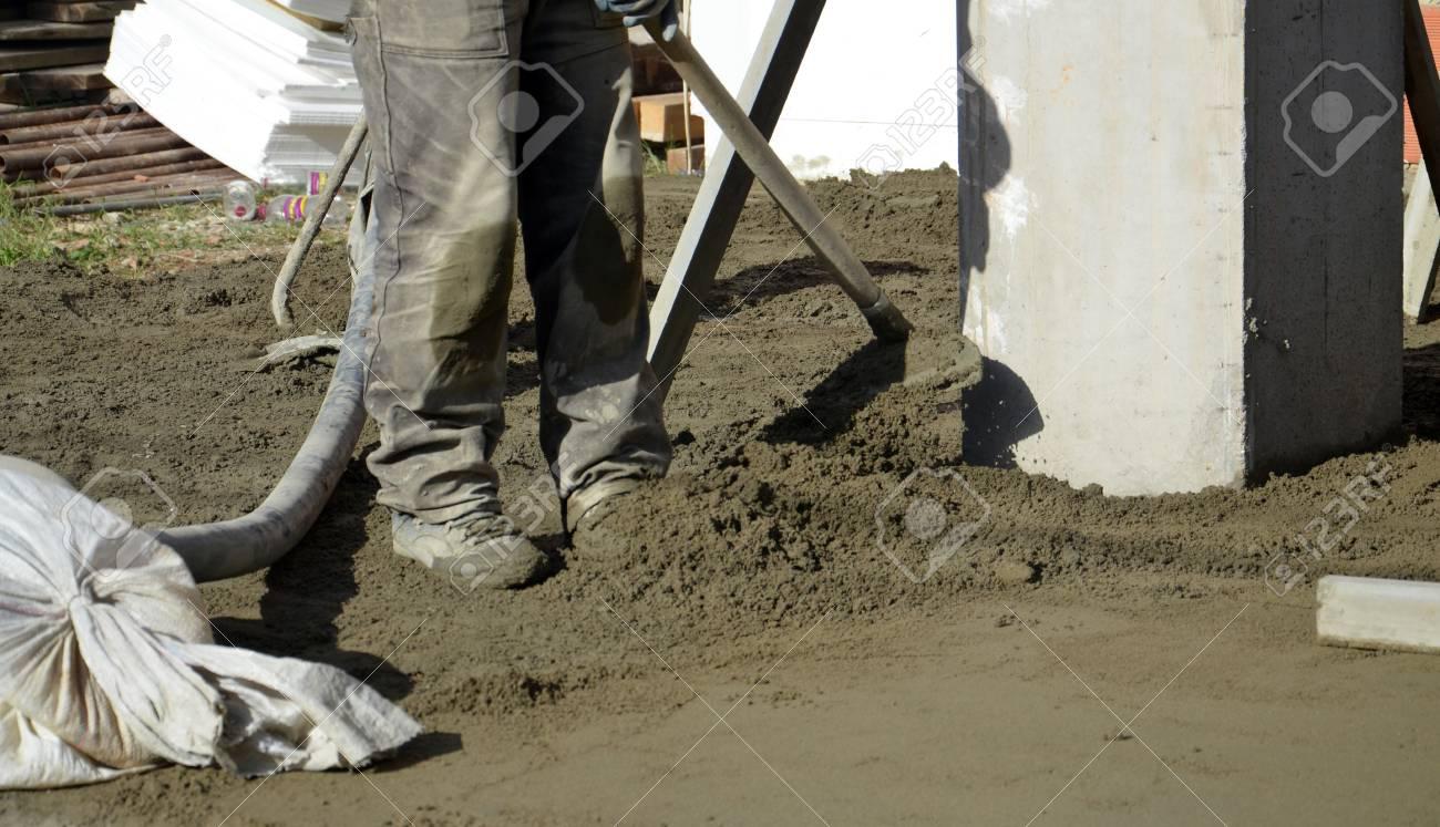 Glatten Betonieren Der Boden Lizenzfreie Fotos Bilder Und Stock