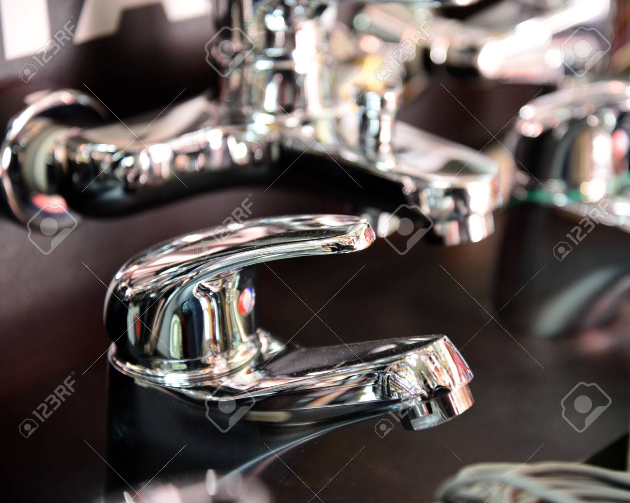 The Water Tap, Faucet For The Bathroom And Kitchen Mixer, In.. Stock ...