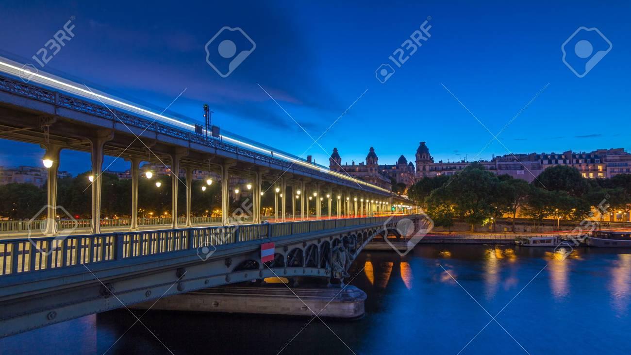 View Of Pont De Bir Hakeim Formerly Pont De Passy Day To Night
