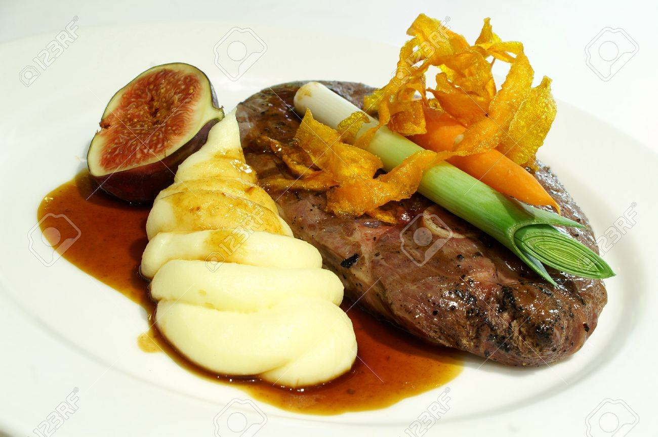 plated lamb meal dinner Stock Photo - 48797917 & Plated Lamb Meal Dinner Stock Photo Picture And Royalty Free Image ...
