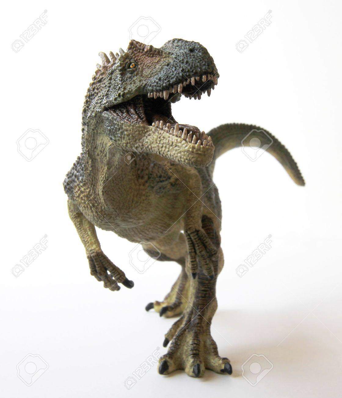 An Allosaurus Dinosaur with Gaping Jaws Full of Sharp Teeth - 9010379