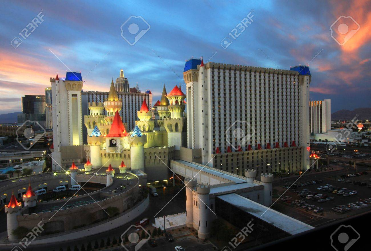 A twilight view of the Excalibur Hotel and Casino taken in Las Vegas, Nevada, on March 16, 2011. - 9144408