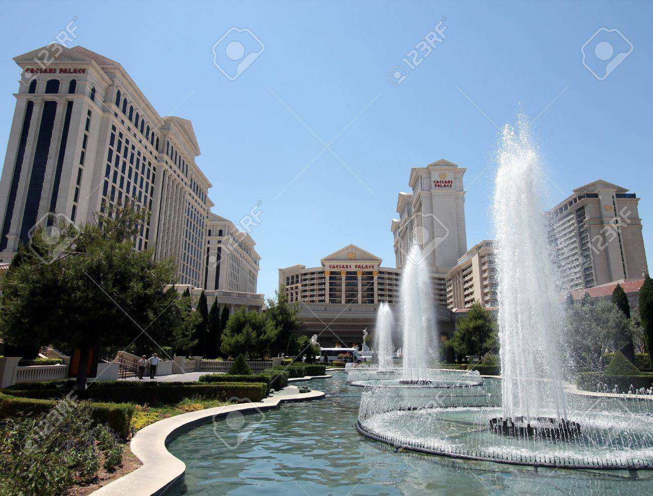 A View of the Caesars Palace Fountains, Las Vegas, Nevada, taken June 9, 2011 - 9891504