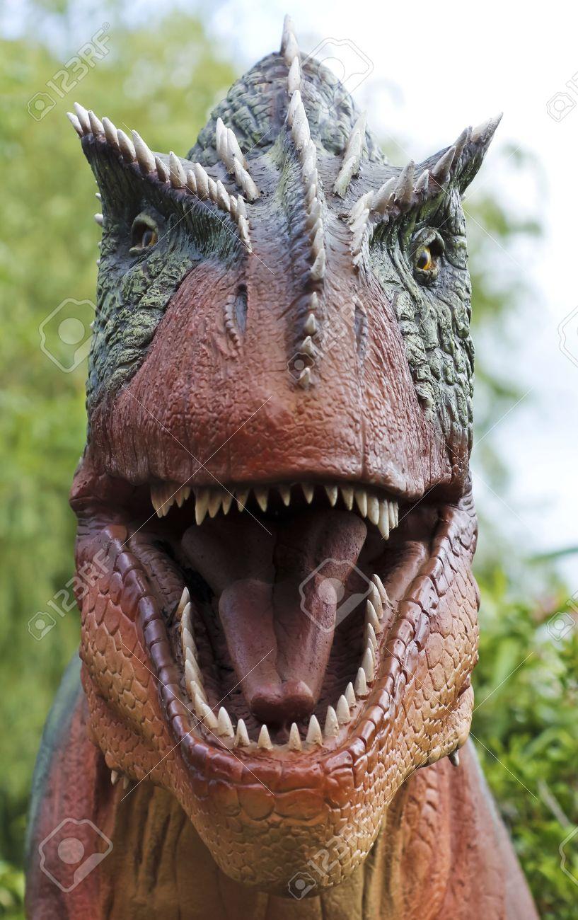 A Hungry Allosaurus Hunts in a Late Jurassic Jungle - 15629752