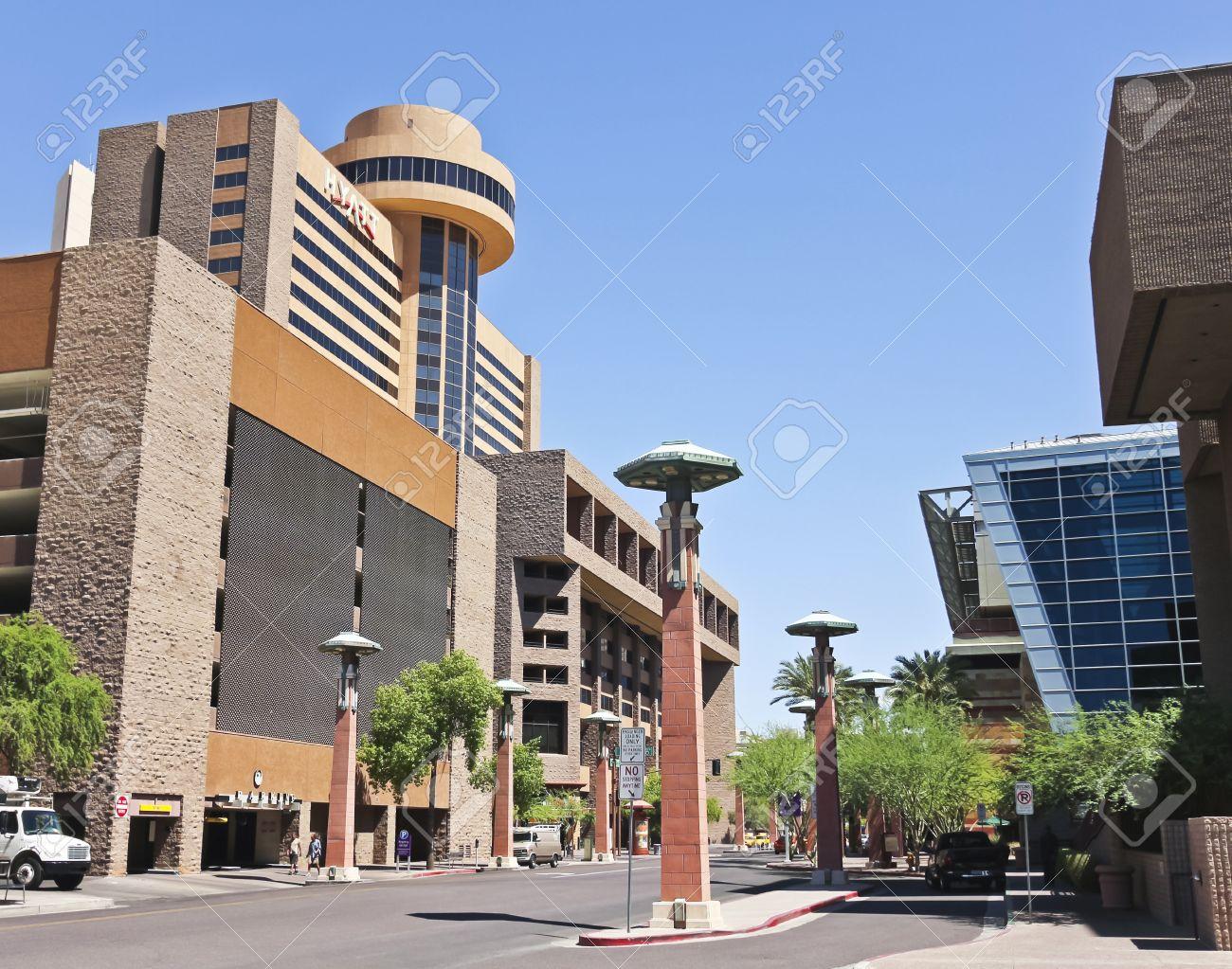 Phoenix, Arizona - June 13: Hyatt Regency Phoenix on June 13, 2012, in Phoenix, Arizona. Hyatt Regency Phoenix is a convention center for the City of Phoenix, Arizona, United States. Stock Photo - 16284722