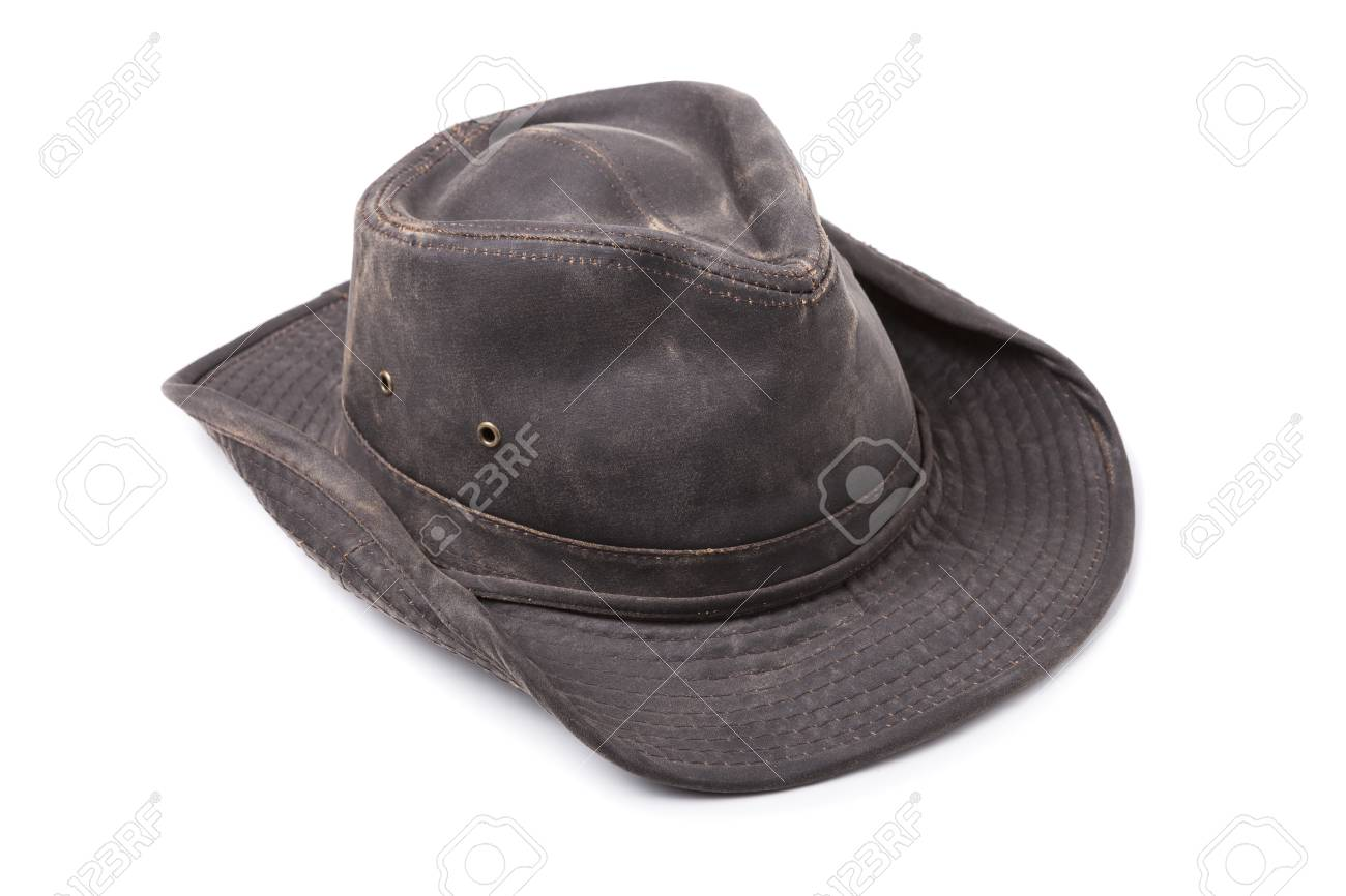 Dark Brown Cowboy Hat isolated on White Background Stock Photo - 68176929 f53864e5a9e