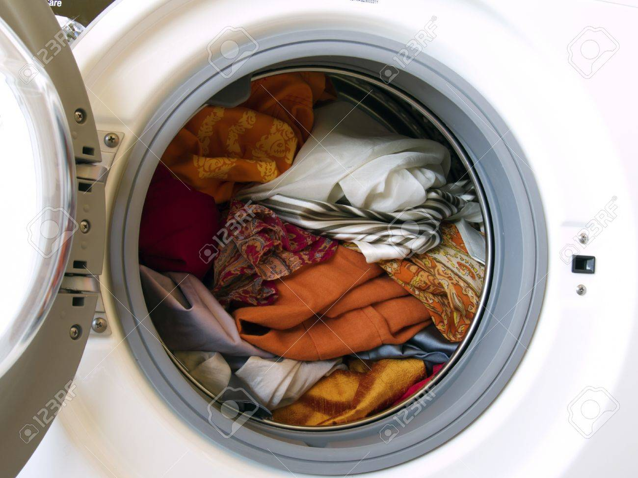 washing machine with colored clothes Stock Photo - 8605057