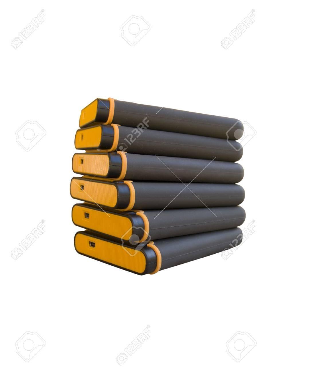 stack of usb hard drives Stock Photo - 8668281