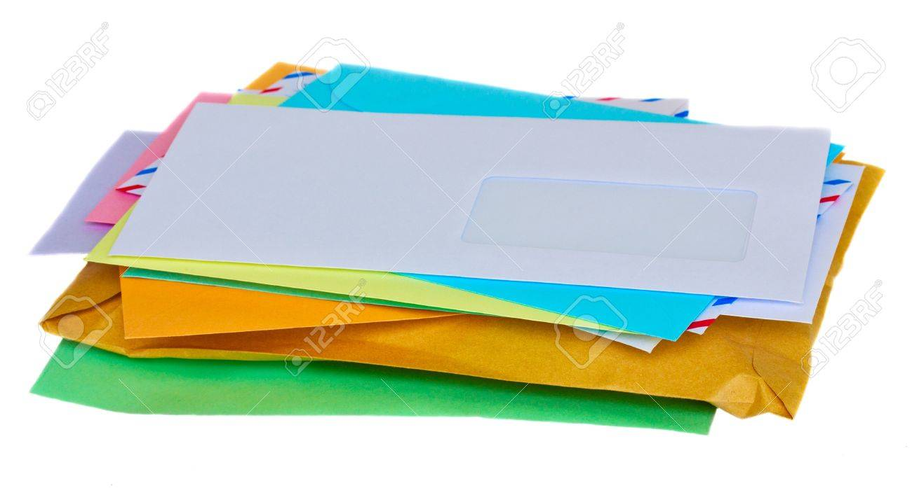 pile of mail isolated on white background Stock Photo - 11774673