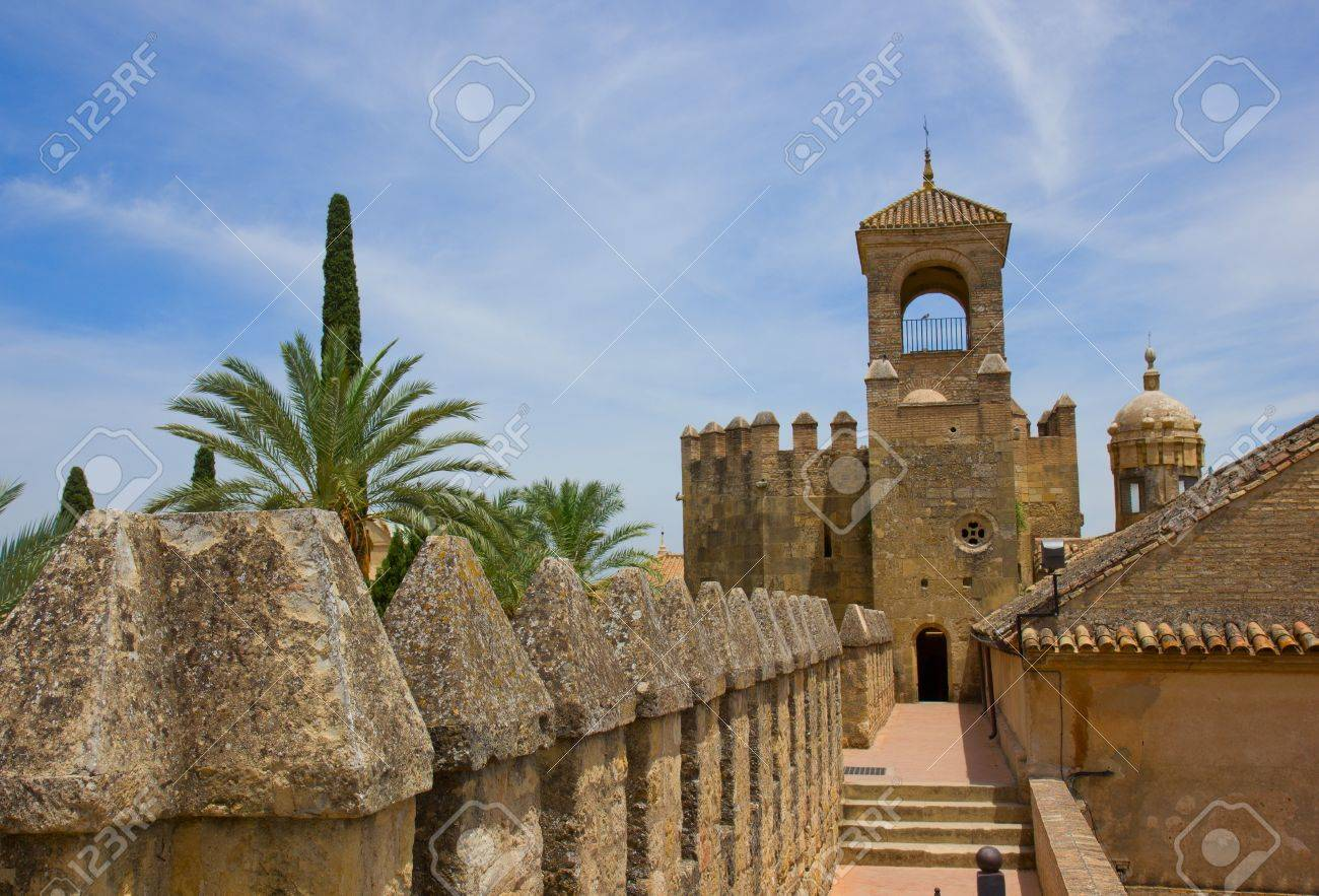 Palace Fortress of the Christian Kings  Alcazar de los Reyes Cristianos , Cordoba, Cordoba Province, Andalusia, Spain Stock Photo - 14296357