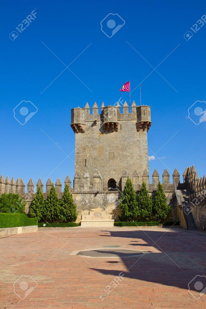 tower of  of Almodovar del Rio castle, Cordoba, Spain Stock Photo - 14360017
