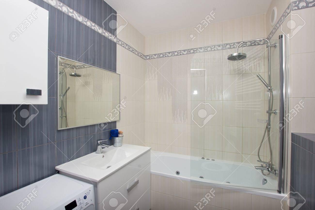 Piastrelle mosaico bagno grigio bianco e nero piastrelle bagno