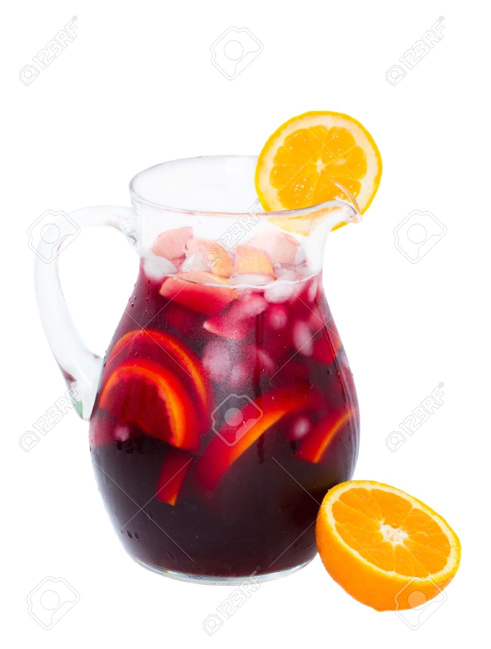 Jar of cold sangria wine isolated on white background stock photo jar of cold sangria wine isolated on white background stock photo 20102324 altavistaventures Image collections