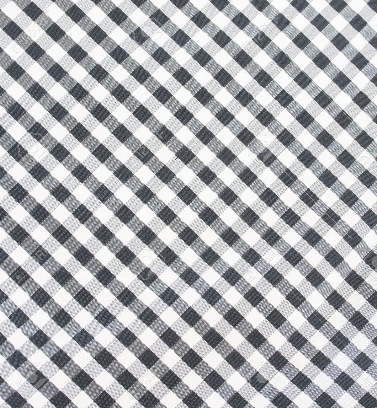 Black And White Checkered Fabric, Tablecloth Texture Stock Photo   22230165