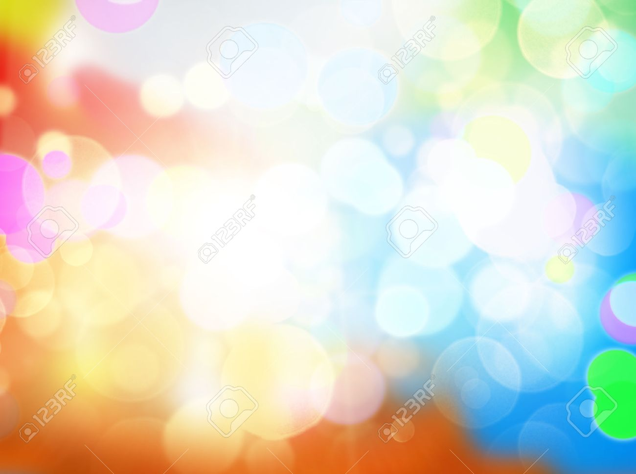 Gleaming Festive Birthday Background With Bokeh Sparcle Stock Photo
