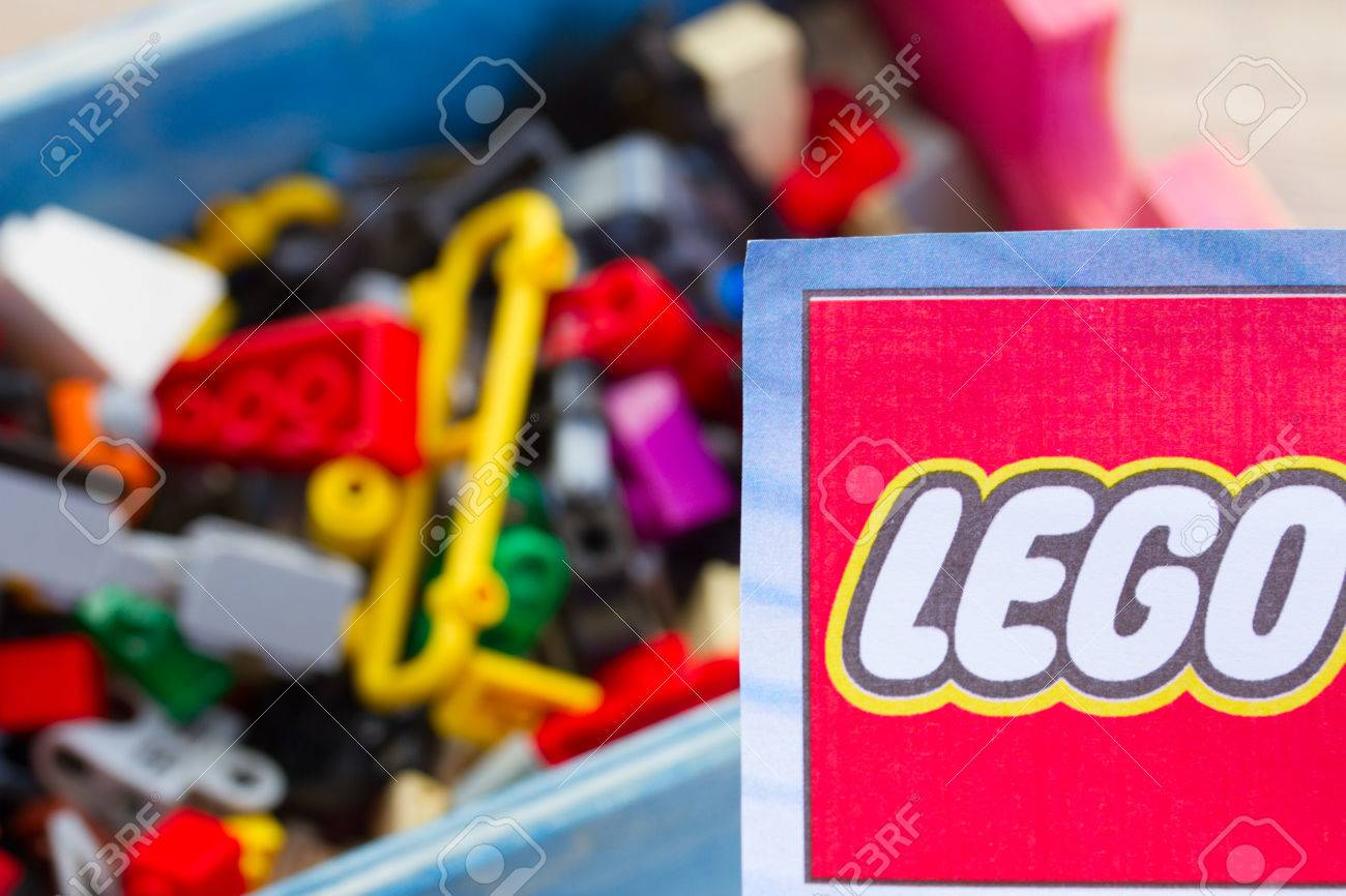 Warszawa Poland October 10 2014 Logo Of Lego With Assorted