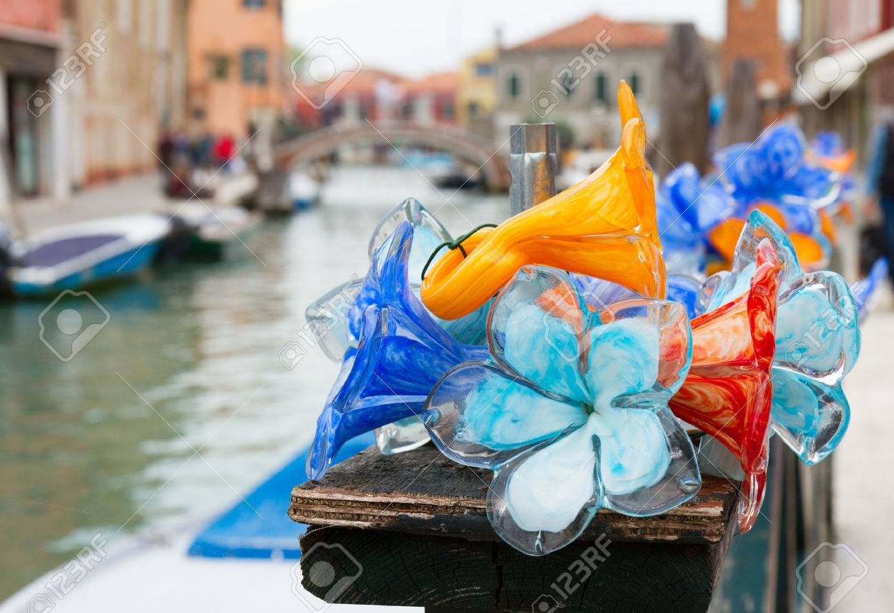 traditional glass in old town of Murano island, Venice, Italy - 50747503