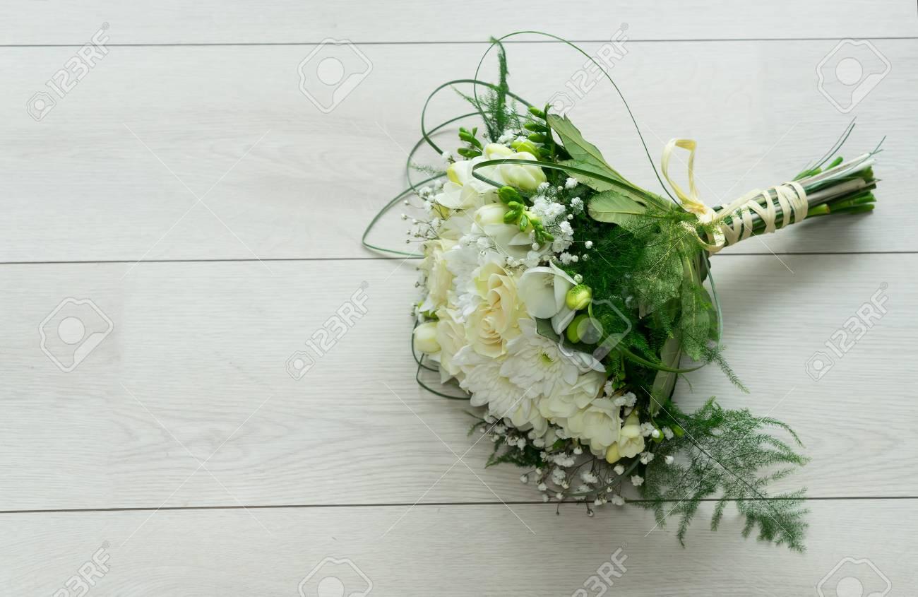 White fresh roses freesia and mum flowers bouquet stock photo stock photo white fresh roses freesia and mum flowers bouquet izmirmasajfo