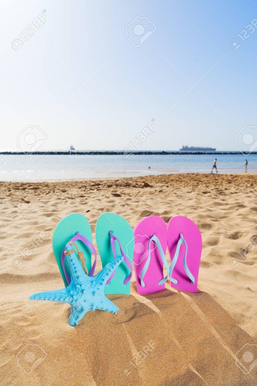Diversión Sandalias De Verano Playa Coloridas La Azules En l1JKcF
