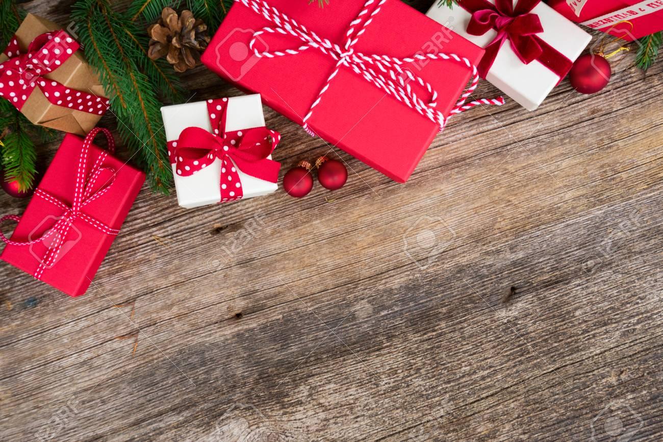 Scatole Per Regali Di Natale.Immagini Stock Regalo Di Natale Che Da Concetto Regali Di Natale