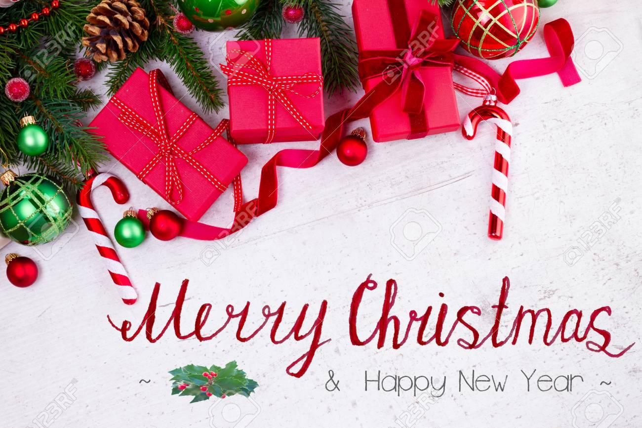 Christmas Gift Giving Images.Christmas Gift Giving Flat Lay Border Christmas Presents In