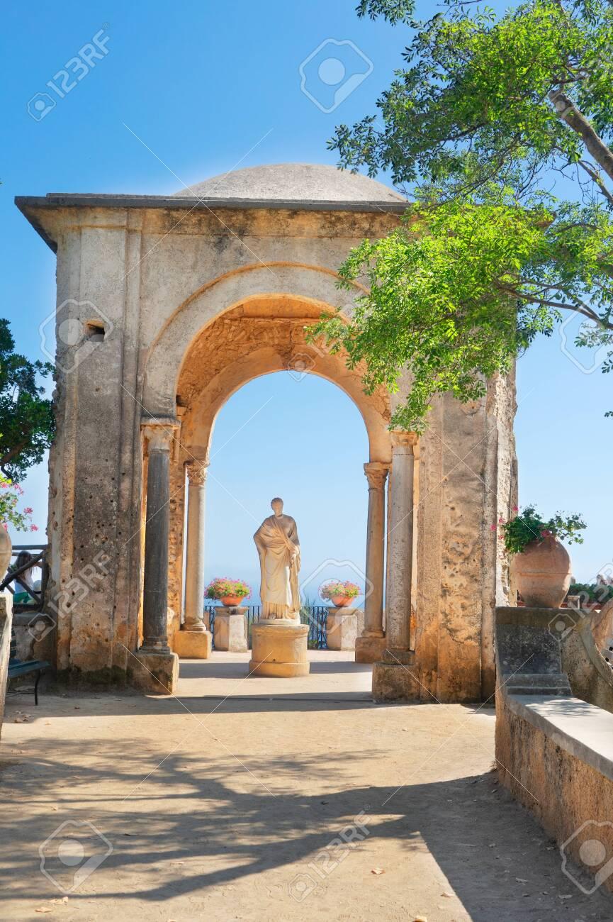 beautiful details of Ravello village at summer, Amalfi coast of Italy - 149380148